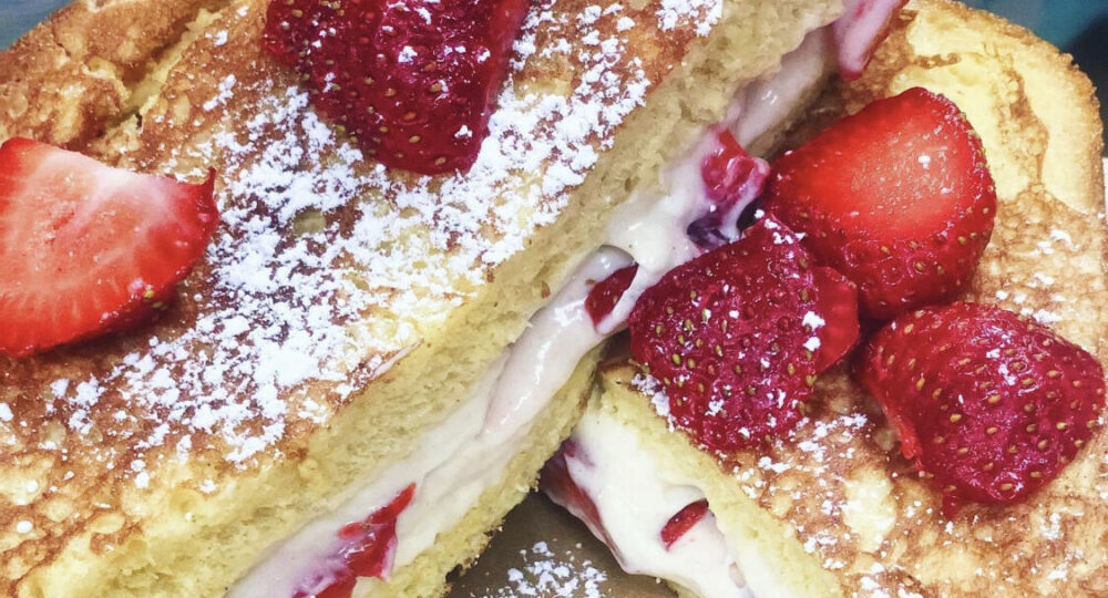 Brunch Strawberry Cream Cheese Stuffed French Toast