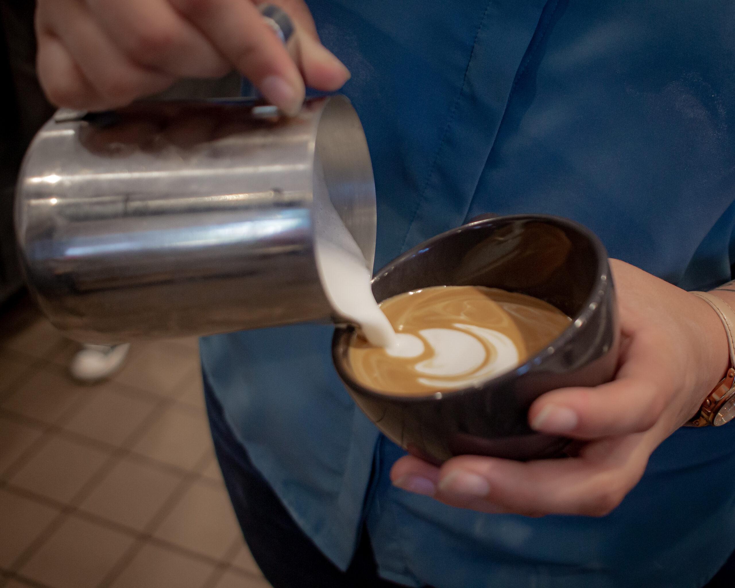 Gourmet Coffee Latte Art